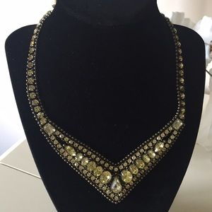Retro rhinestone necklace